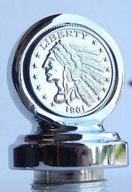 Chrome Coin - Indian Chief Dipstick Chrome W/Chrome Coin - CI-1037CS