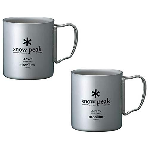 (Snow Peak Titanium Double Wall Cup 450 - 2 Pack)