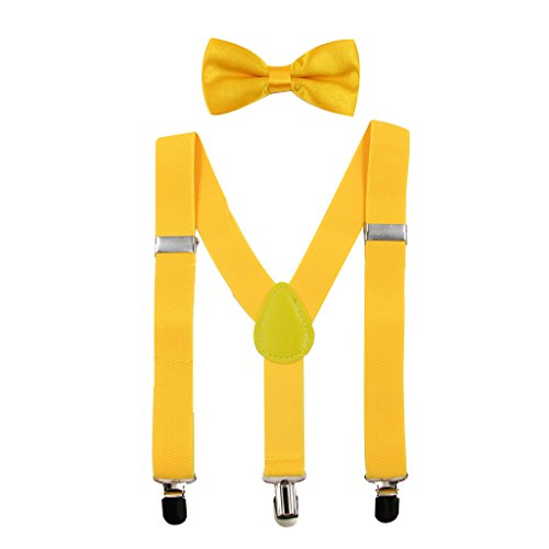 Hanerdun Kids Suspender Bowtie Sets Adjustable Suspender With Bow Ties Gift Idea For Boys And -