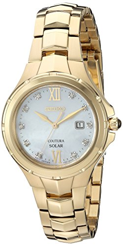 Seiko Women's Japanese Quartz Stainless Steel Watch, Color:Gold-Toned (Model: SUT310) (Stainless Seiko Watch Toned Womens Gold Steel)