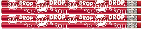 Fire Prevention Safety (D2014 Stop Drop & Roll - 36 Fire Safety Pencils)
