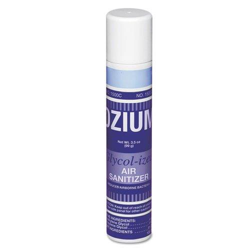 TimeMist Handheld Ozium 1500 Air Sanitizer, Original, Aerosol, 3.5oz - six aerosol cans of glycolized air sanitizer. (Glycolized Sanitizer Air)