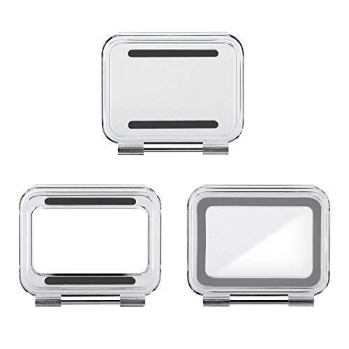 SOONSUN Backdoor Case Cover Kit for GoPro Hero 5/6 Housing Case (Standard + Skeleton + Touch) - 3pcs/Set