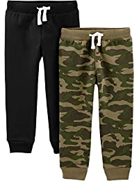 Baby and Toddler Boys' 2-Pack Pull on Fleece Pants
