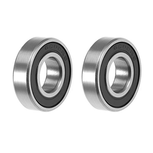 (uxcell 6800-2RS Deep Groove Ball Bearing 10x19x5mm Double Sealed ABEC-3 Bearings 2-Pack)
