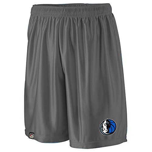 NBA Dallas Mavericks Men's B&T Poly Fleece Team Shorts, 6X, Charcoal