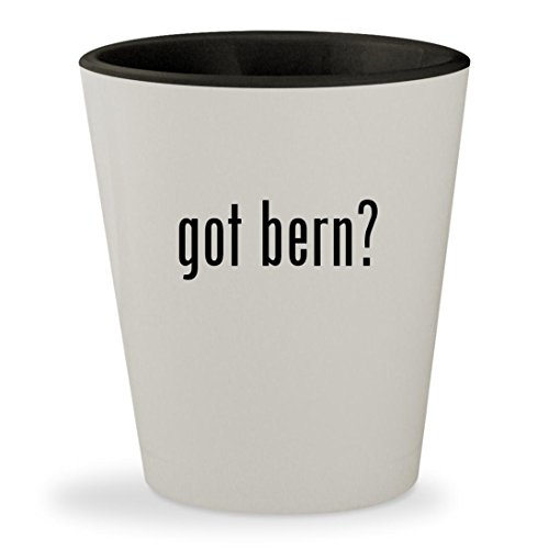 Audio Snowboard Hard Hat (got bern? - White Outer & Black Inner Ceramic 1.5oz Shot Glass)