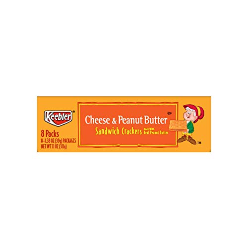 Keebler Cheese and Peanut Butter Sandwich Crackers, Single Serve, 1.38 oz Packages, 8 Count(Pack of 6) by Keebler Sandwich Crackers (Image #5)