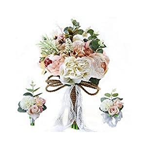 Slogan not Vintage Court Style Wedding Artificial Hand Flower Bridal Bouquet Wedding Decoration Bridesmaid Wedding Bouquet 6