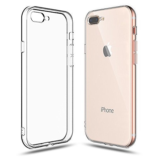 Iphone 7 Plus Case  Iphone 8 Plus Case  Shamos Crystal Clear Shock Absorption Cover Tpu Rubber Gel  Anti Scratch  Transparent Clear Back Case Soft Silicone  For Apple Iphone 7 8 Plus  Clear