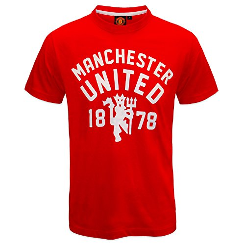 Manchester United Football Club Official Soccer Gift Mens T-Shirt Red - Shirt Utd Football Man