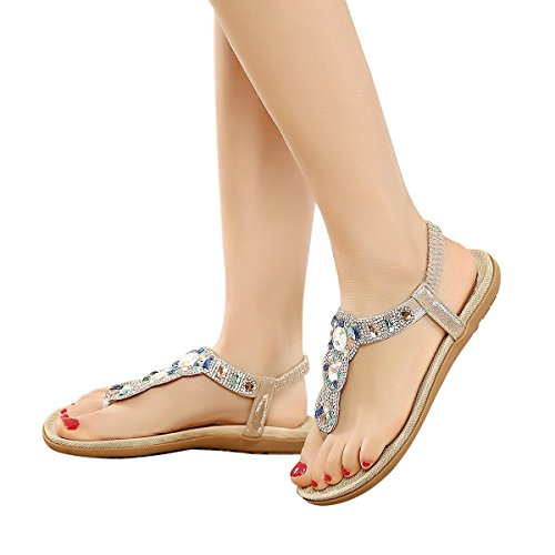 Mujer Piel Por Estar Zapatillas Dorado Lazutom Para Casa De Sintética wOFCTx8g