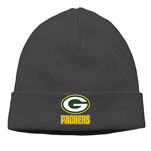[Caromn Green Bay Football Team Beanies Skull Ski Cap Hat Black] (Jordy Costumes)