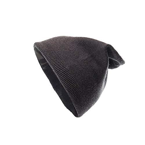 iDWZA Men Women Warm Crochet Winter Plus Velvet Thickening Slouchy Siamese Collar Hat -