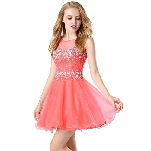 e7db15c2ac Belle House Women s Short Beading Homecoming Dress for Juniors A Line Prom  Ball Gown