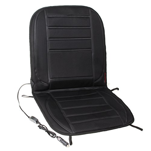 Audew 12V Heated Seat Cushion Car Auto Front Seat Cover Heated Thermal Pad Winter Seat Warmer with Temperature Control
