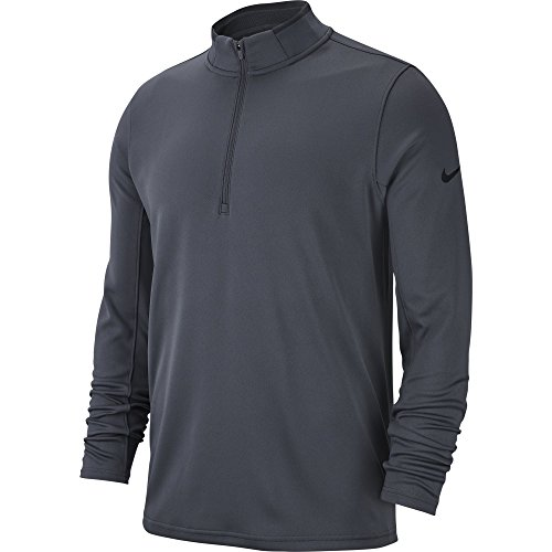 NIKE Men's Dry Half-Zip Golf Shirt, Dark Grey/Anthracite/Black, (Nike Half Zip Pullover)