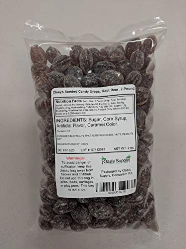 (Claeys Sanded Candy Drops, Root Beer, 2 Pound )
