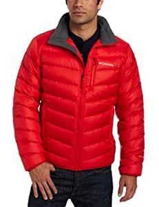 Columbia Men's Hellfire Down Jacket, Bright Red, X-Large