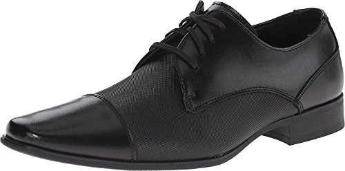 Calvin Klein Men's Bram Oxford, Black Diamond Leather, 11 M US