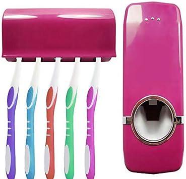 Webla Dispensador automático de pasta de dientes con soporte para ...