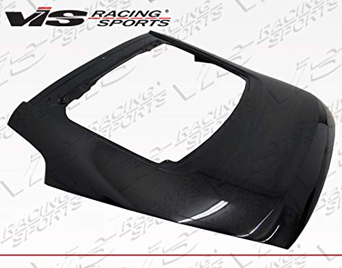 VIS Racing (VIS-VYK-706) Black Carbon Fiber Hatch OEM Style for Nissan 350Z Hatchback 03-08 (Fiber Carbon 350z Oem Nissan)