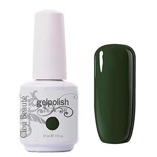 Clou Beaute Gelpolish 15ml Soak Off UV Led Gel Polish Lacquer Nail Art Manicure Varnish Color Army Green 1436