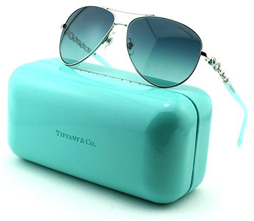 Tiffany TF3049B Women Sunglasses Silver Blue Frame/Blue Gradient Lens ()