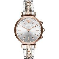 Emporio Armani Womens ART3019 Hybrid Analog Display Quartz Pink Smart Watch