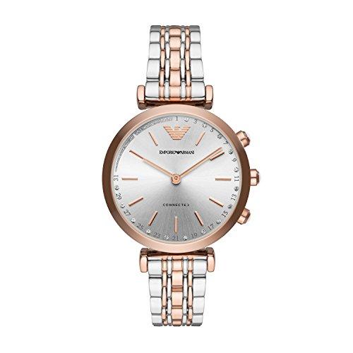 Emporio Armani Women's 'Hybrid' Quartz Stainless Steel Smart Watch, Color Silver-Toned (Model: ART3018)