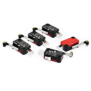 Gikfun V-156-1C25 Micro Limit Switch Long Hinge Roller Momentary SPDT Snap for Arduino (Pack of 5pcs) AE1056