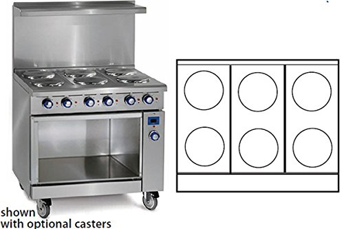 Imperial Commercial Restaurant Range 36'' With 6 Elements Open Cabinet Base Electric Model Ir-6-E-Xb by Imperial