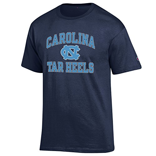 Champion NCAA Men's Shirt Short Sleeve Officially Licensed Team Color Tee, North Carolina Tar Heels, (University North Carolina Tar Heels Basketball)