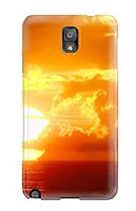 AMGake Premium Protective Hard Case For Galaxy Note 3- Nice Design - Sunset