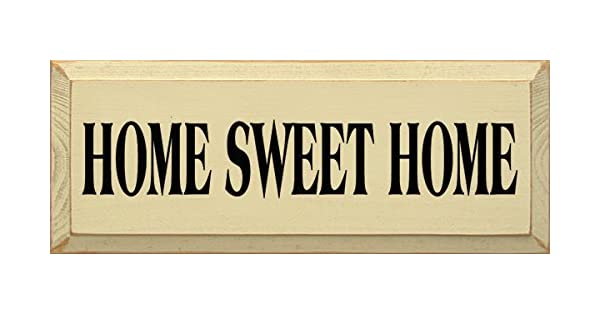 Amazon.com: Cartel de madera – Home Sweet Home: Home & Kitchen