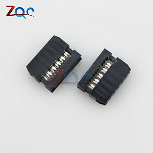 10PCS IDC 10 PIN Female Header  FC-10 2.54 mm pitch Socket Connector