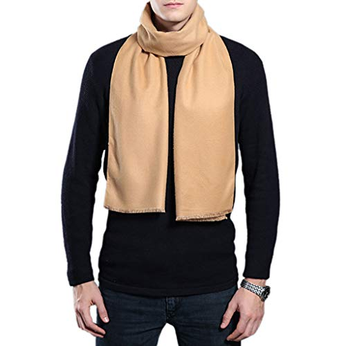 Apricot Wool - Stebcece Mens Winter Scarf - Fashion Formal Soft Wool Scarves for Men (Apricot)