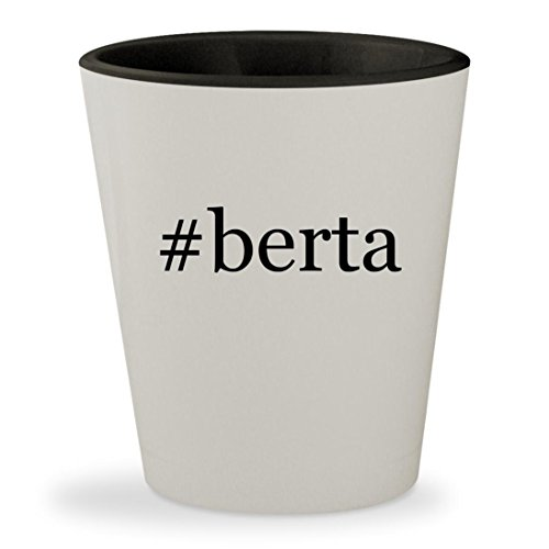 #berta - Hashtag White Outer & Black Inner Ceramic 1.5oz Shot (Berta Grappa)