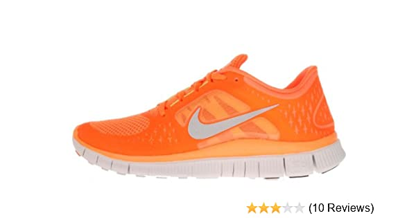 san francisco 2fb6a 22c34 Amazon.com   Nike Free Run +3 Mens Running Shoes (Ttl Orng Rflct Slvr-Pr  Pltnm-v) 7   Running