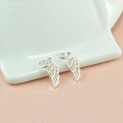 usongs S925 sterling silver bracelets DIY accessories hand-beaded angel wings necklace pendant material Bracelets produced accessories