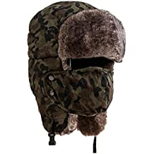 Winter Hat, ღ Ninasill ღ Exclusive Thicken Hat Wind Mask Cold-proof Outdoor (Green)
