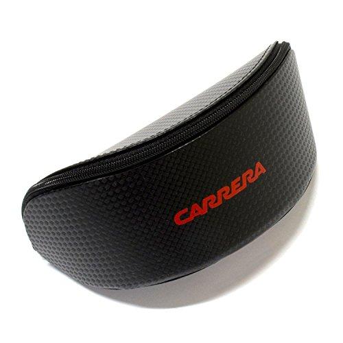 Carrera Champion Sunglasses Matte Black w/Red Mirror (09LV) 9LV UZ 62mm Authentic + Cleaning Care-Kit