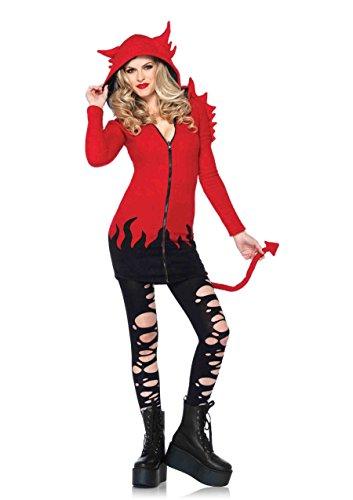 Leg Avenue Women's Cozy Devil Costume, Red, Large