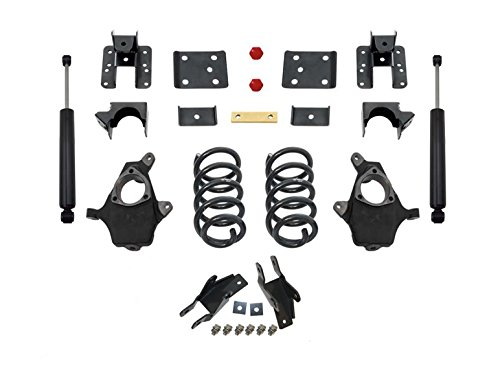 (MaxTrac KS331535-8 Lowering Kit 3 in. Front Drop 5 in. Rear Drop Incl. Front Spindles/Front Coils/Adjustable Rear Flip Kit/Maxtrac Shocks Lowering Kit)