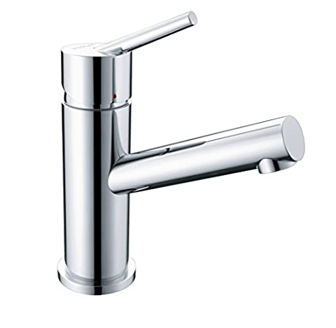 KOSRAE Faucet Modern Bathroom Sink Single Handle Faucet Chrome Finish - Deck Mounted Electronic Faucet