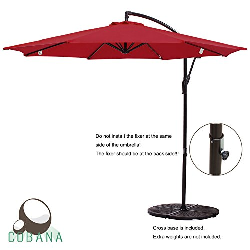 cobana-10-offset-hanging-patio-umbrella-freestanding-outdoor-parasol-adjustable-market-umbrella-250g