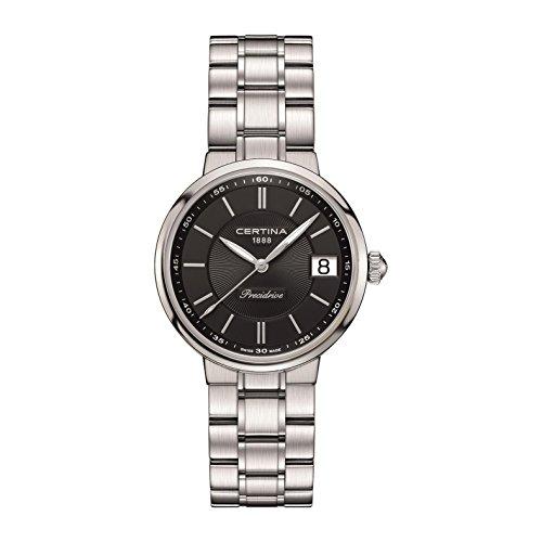 Certina Women's DS Stella Steel Bracelet & Case Quartz Black Dial Analog Watch C031.210.11.051.00