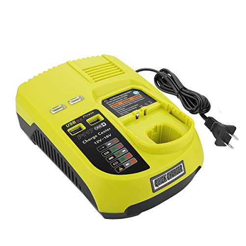 Energup Dual Chemistry Battery Charger P117 P118 for Ryobi 12V 18V One+ Plus NiCd NiMh Lithium Battery P100 P101 P102 P103 P105 P107 P108 P200 1400670