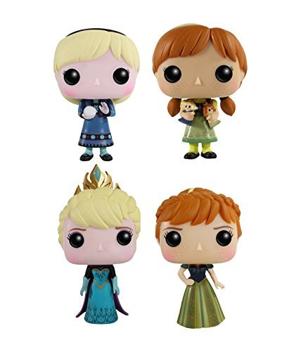 Funko Disney Frozen POP! Vinyl Collectors Set: Young Anna & Elsa, Coronation Anna & Elsa Action Figure by FunKo