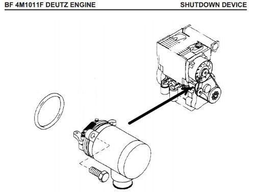 deutz bf4m1011f fuel shut off solenoid 04272733 bobcat skid